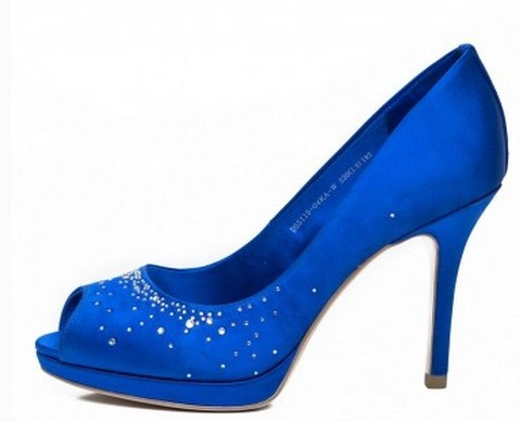 62c00b2ecff2b6 SH164 free shipping by DHL satin royal blue peep toe rhinestones party shoes  bridal wedding shoes