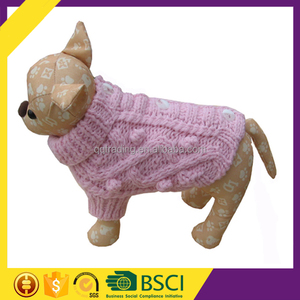 2017 Ready To Ship Pink Balls Button Pattern Free Easy Knit Dog Sweater
