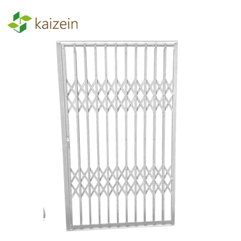 Decorative steel folding door security grilles