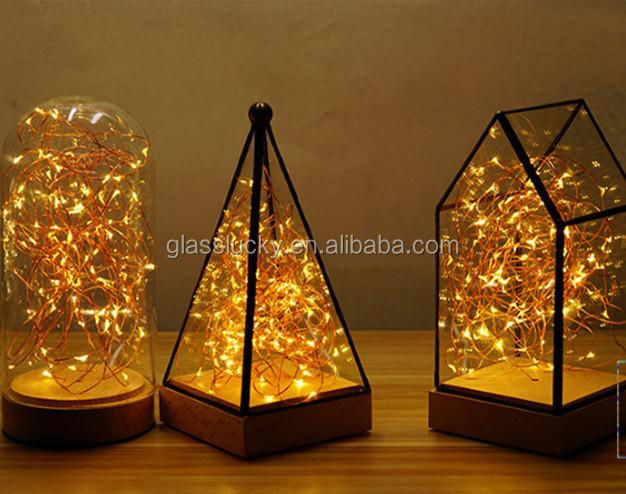 Decorative Glass Terrarium Lantern Creative Geometric Glass