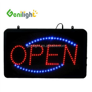 2017 New Window Used Battery Powered Led Business Open DIY Sign
