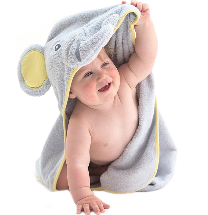 2019 animal customize wholesale bamboo baby hooded towel hooded baby towel baby bath towel