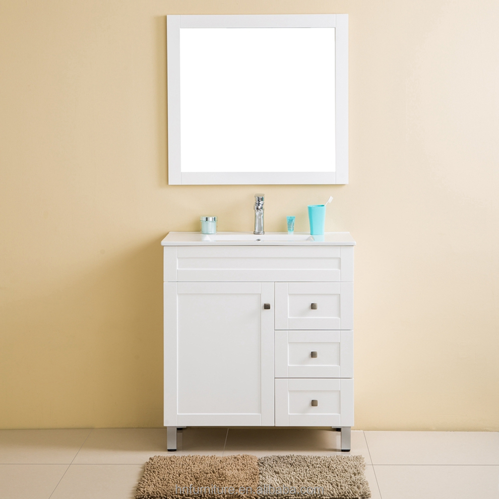 Makeup Sets Solid Wood Single Sink Bathroom Solid Wood Bathroom Wall Free Standing Linen Cabinet
