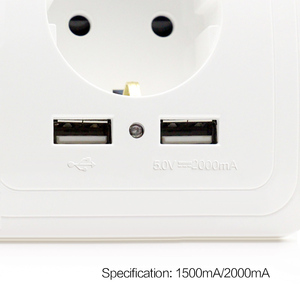 German Style 5V 2A USB Multi Electrical Wall Plug Socket