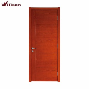 China supplier high quality natural wood veneer finished hollow core flush plywood doors designs photos interior