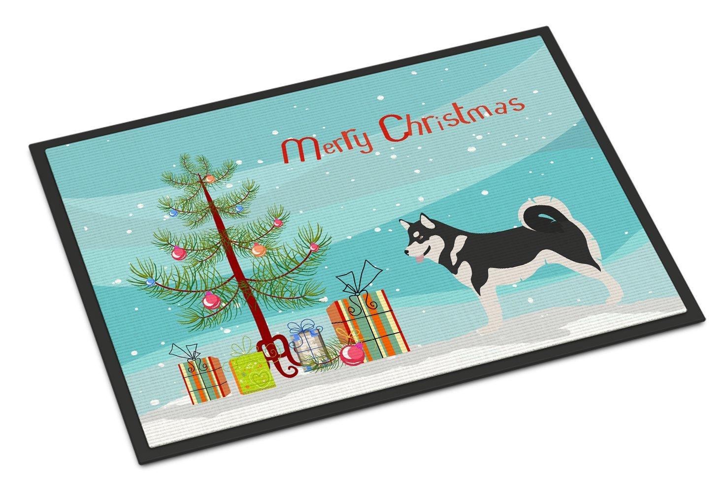 Caroline's Treasures Alaskan Malamute Christmas Doormat, 18hx27w, Multicolor
