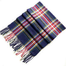 Custom Mens Scottish Cashmere feel Acrylic Tassel Scarf