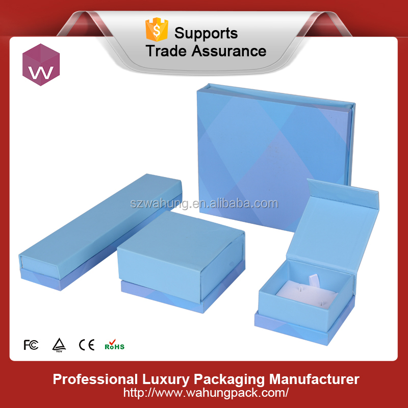 paper packaging box for jewel set sky blue jewel set box paper