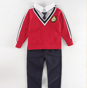 Custom Pretty style school track suits primary school uniform manufacture, international kindergarten kids school band uniform