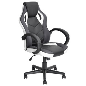 Racing Chair Backrest and Seat Height Adjustment Computer Chair With Pillows Recliner Swivel Rocker Tilt E-sports Chair