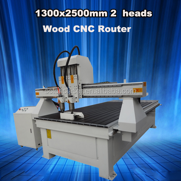 4ftx8ft CNC router woodworking 2 independent spindle CNC router machine
