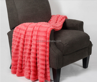 100% POLYESTER MATERIAL BRUSHED PV FLEECE THROW BLANKET WHOLESALE