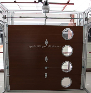 New coffee color Sectional Garage Door,garage door window kit