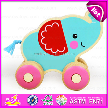 Best Educational Wooden Pull String Animal Car Toys For 4 5 Year Old