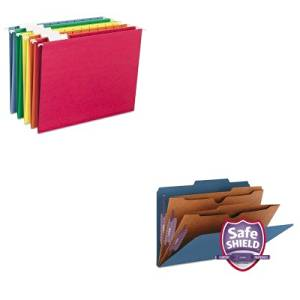 KITSMD19077SMD64059 - Value Kit - Smead Pressboard Classification Folders (SMD19077) and Smead Hanging File Folders (SMD64059)