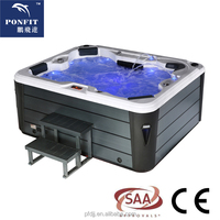 4-5 Person Deluxe Balboa System America Acrylic Hot Tub Outdoor Swim SPA with Jacuzzier/ Party Bathtub with TV / Hot Tub