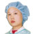 Disposable Non-Woven Round Cap/Nurse Cap with Strip Pattern 21 Inch