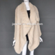 Fashion Women Knitted Rabbit Fur Winter Jacket Cardigan Fur Coat With Big Lapel