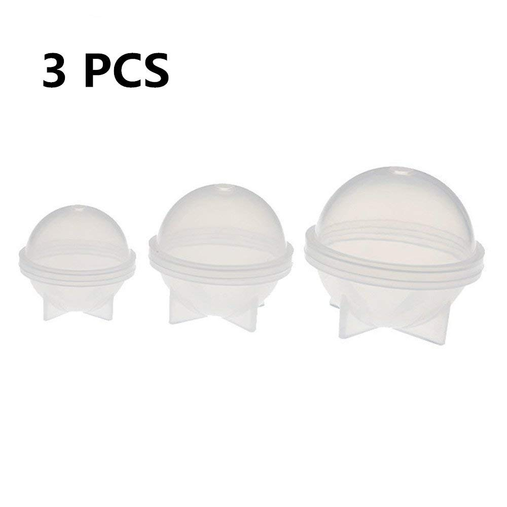 3 Pcs/Set Ball Planet Shape Silicone Mold, Clay Epoxy Resin, Pendant Mold with Jewelry Molds,Earring Necklace Making and DIY Craft Making,Fondant Candy Mold