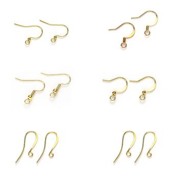 Hypo Allergenic Stainless Steel Earring Hook Silver Earwires Fish Hooks Earrings Findings Diy Jewelry
