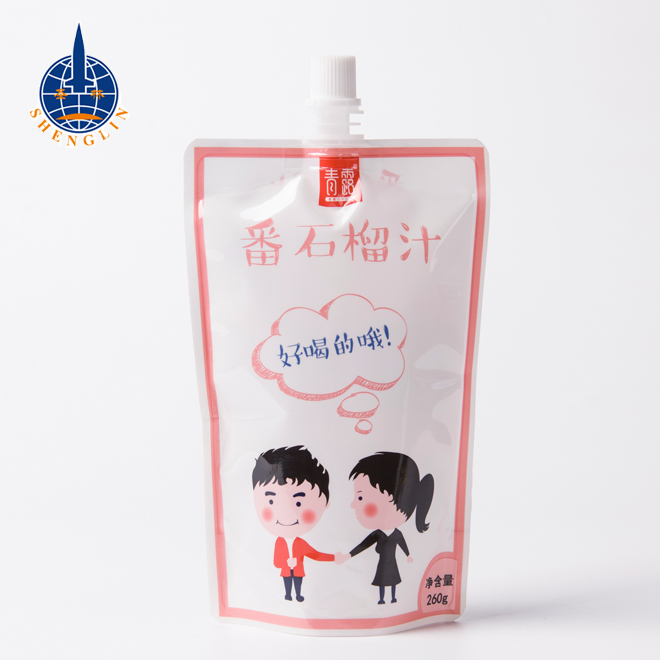 Fresh milk spout packaging pouches manufacturers stand up drink packing bag for liquid milk