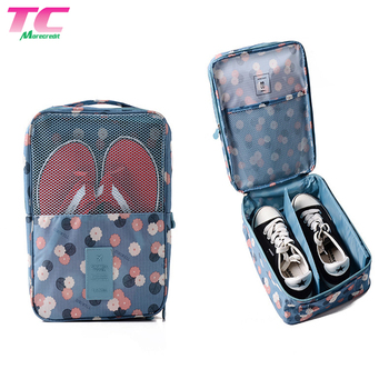 3 Pairs Portable Travel Shoe Bags with Zipper Closure Wholesale Storage Mesh Shoe Carrier Bag