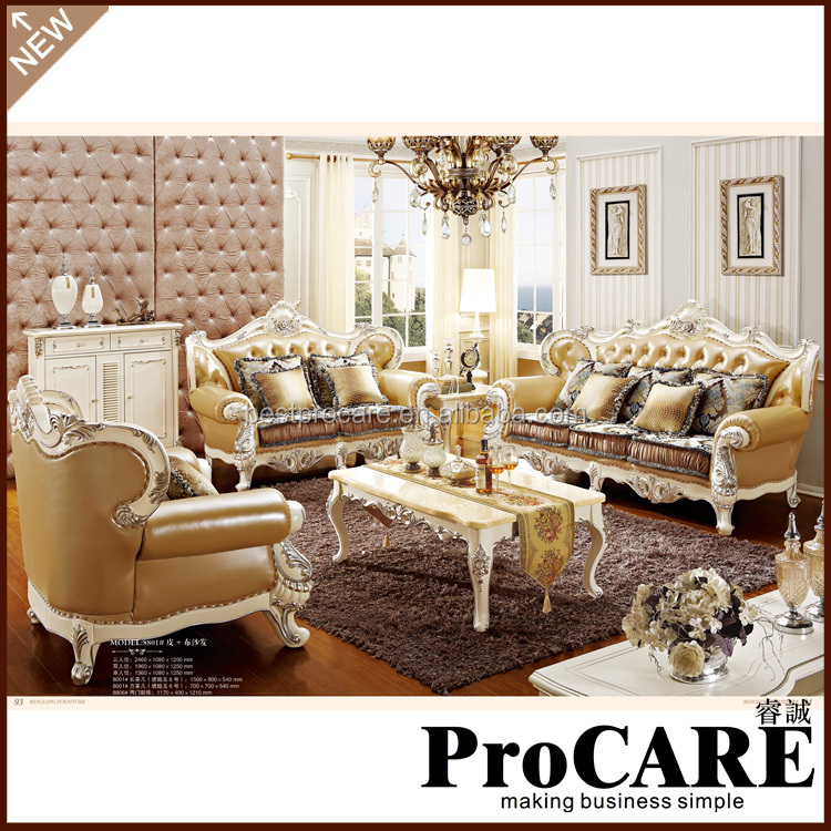 Modern White Leather Sofa Set Design Made In China