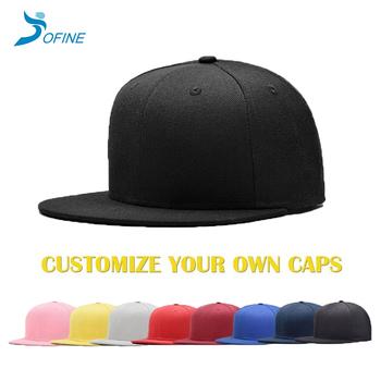 077dff1892978 OEM ODM promotional Wholesale bulk Blank Plain blank own logo designed hat  custom snapback