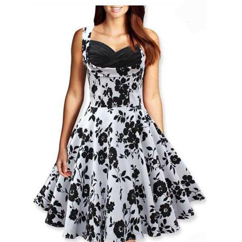 5ec30962eaf0 Get Quotations · 2015 Autumn Women Fashion Floral Print Vintage Dress Robe  Women Dress Sleeveless Vestidos De Festa Plus