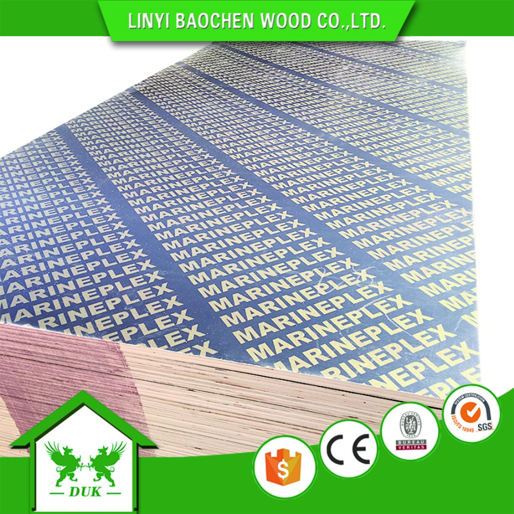 Marine Plywood / 21mm 20mm 18mm 15mm 12mm 9mm Film Faced Plywood Concrete Formwork For Construction