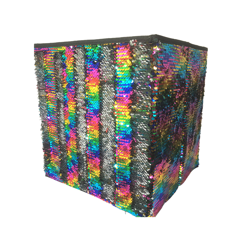 Oyue Eco Friendly Diy Multipurpose Household Clothes Cube Sequin Storage Box Buy