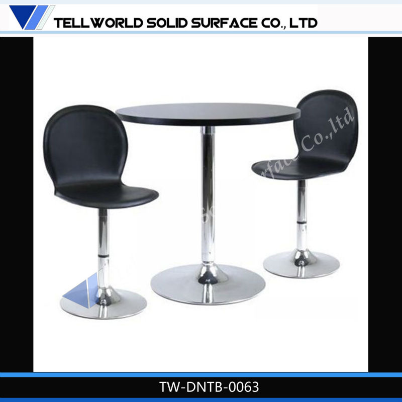High quality solid surface cheap restaurant tables chairs