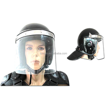 High Quality Black Anti Riot Helmet Military Police Helmet With Gas Mask Sale
