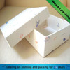 Elegant specialty paper made gift box with lid/ Hot cardboard paper gift scraf box