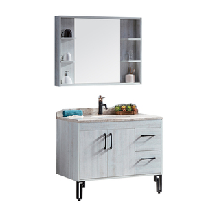 Cheap American standard Furniture Pvc White Glass Bathroom Cabinet with Mirror