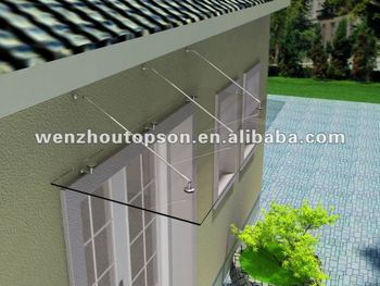 glass door canopy awning