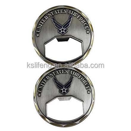 Custom Souvenir bottle openers Antique silver Coin bottle opener