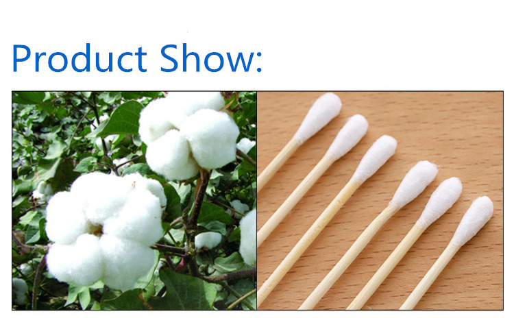 Wholesale Cotton Swab Women Beauty Makeup Cotton Buds Bamboo Sticks Nose Ears Cleaning Cosmetics with Double Head