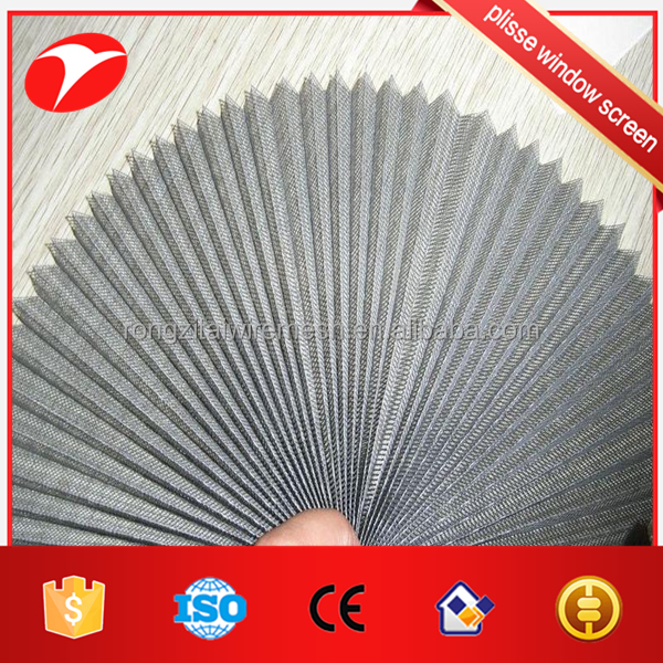 pleated window screen for Plisse System