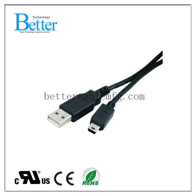 Special professional usb am to usb mini 5p cable