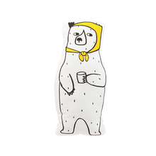 Cute White Bear Scarf Pillow Canvas Baby Room Decor Child Stuffed Soft Cotton Cushion Newborn Bedding