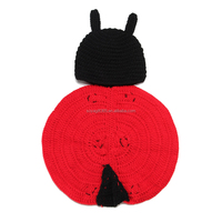 Baby Costume Photo Prop Knit Crochet Beanie Sevenspotted ladybugs Hat Cap