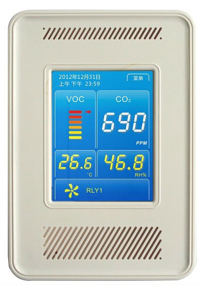 New color touchscreen co2 monitor and controller