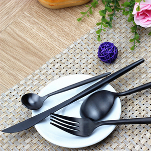 Matte Polish Stainless Steel Black cutlery