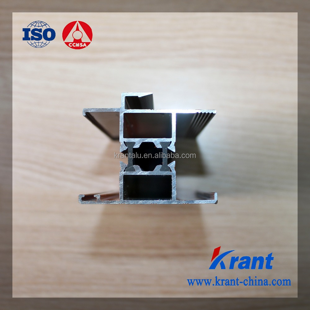 thermal break wood grain aluminium extrution profile for windows