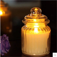 wide-mouth candle jar glass round candle jar