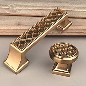 1x Gold Dresser Handles Cabinet Pulls S Kitchen Hardware Cupboard Modern Furniture Material Zinc Alloy