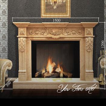 Ornamental Decorative Egypt Cream Marble Fireplace Mantel - Buy ...