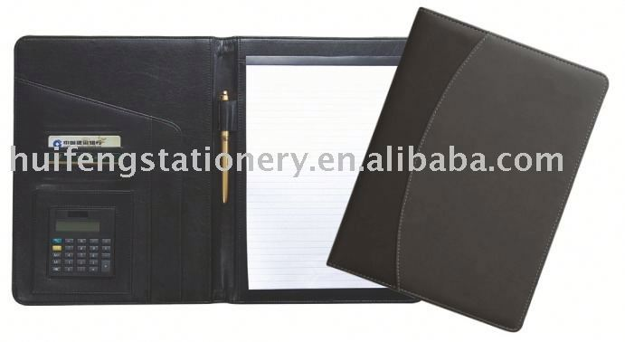 PVC zipper portfolio/ Briefcasea5 note books
