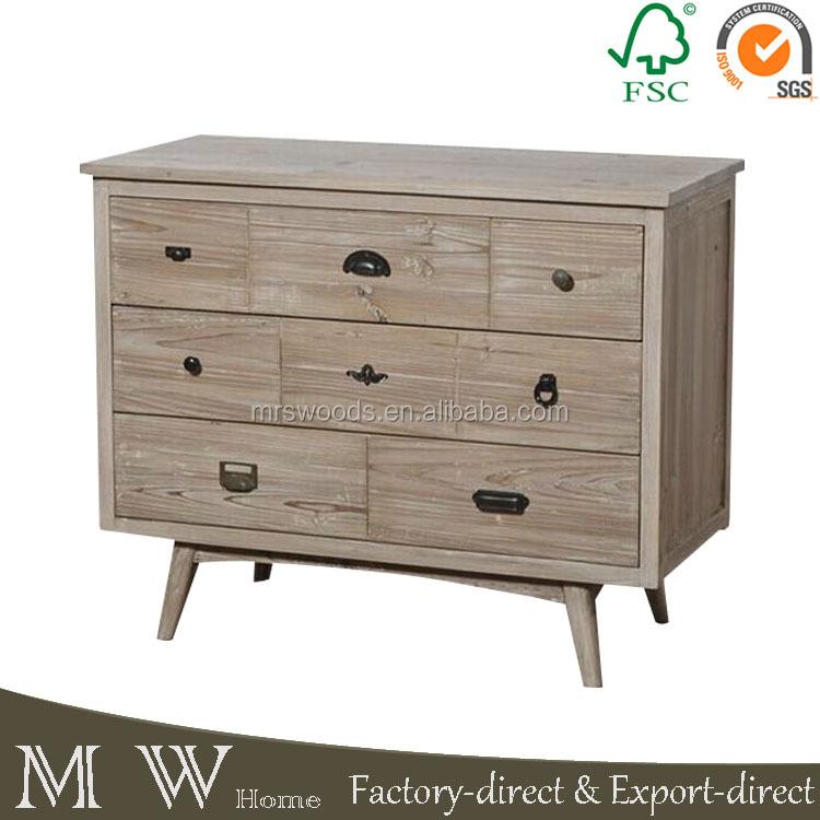 Groothandel antieke stijl massief houten vintage meubels woonkamer ladeblok houten kasten - Vintage woonkamer meubels ...